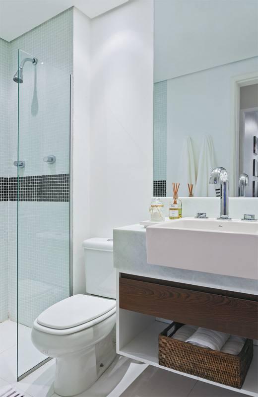 Dicas para Decorar Banheiros Pequenos -> Banheiro Pequeno Casal