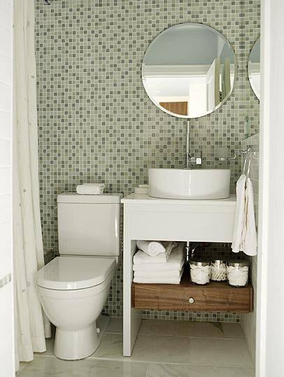 Dicas para Decorar Banheiros Pequenos -> Banheiro Pequeno E Organizado