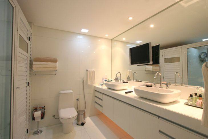 Decoração para Banheiro de Casal  Dicas e Fotos -> Decoracao De Banheiro Pequeno De Casal