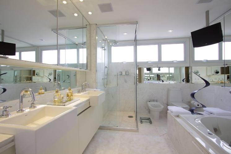Decoração para Banheiro de Casal  Dicas e Fotos -> Banheiro Decorado De Casal