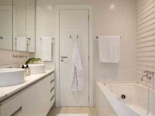 Decoração para Banheiro de Casal  Dicas e Fotos -> Como Construir Um Banheiro Com Banheira