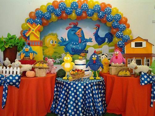 Decoraç u00e3o de Festa de Aniversário Infantil Tema Galinha Pintadinha Dicas na Internet -> Decoração Festa Infantil Galinha Pintadinha Simples