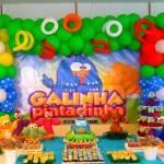 Decoração de Festa de Aniversário Infantil Tema Galinha Pintadinha