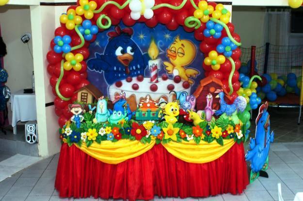 decoracao galinha pintadinha azul e amarelo: de Aniversário Infantil Tema Galinha Pintadinha – Dicas na Internet