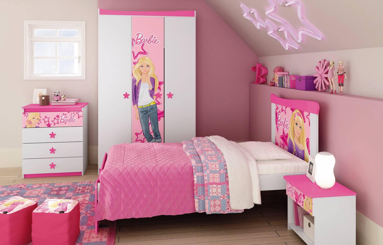 Decora O De Quarto Infantil Da Barbie Dicas E Fotos Dicas Na  ~ Decoração Quarto Feminino Simples