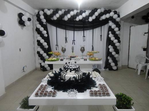 decoracao-de-festa-preto-e-branco-4 - Dicas na Internet