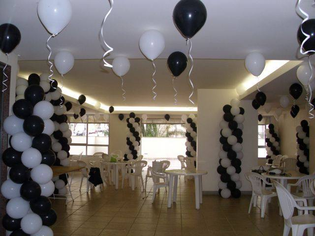 decoracao-de-festa-preto-e-branco-9 - Dicas na Internet