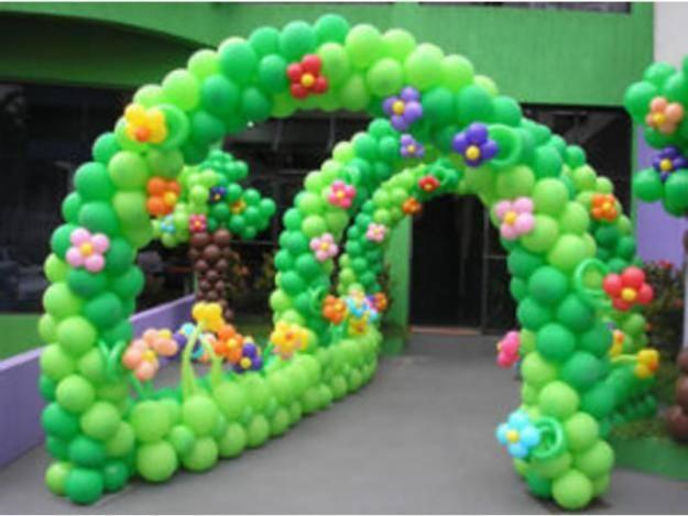 decoracao de balões jardim encantado: para se inspirar não deixe de ver as fotos de decoração com bexigas