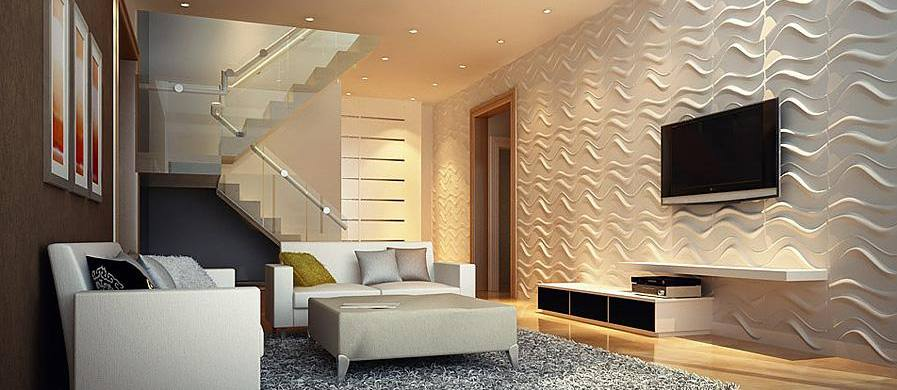 decoracao de interiores papel de parede: de parede 3D que estão super em alta e valorizam todas as