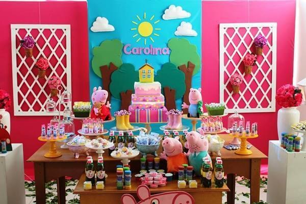 decoracao festa aniversario:Decoração de Festa de Aniversário Infantil tema Peppa Pig – Dicas