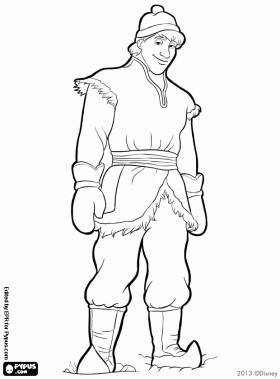 coloring pages frozen kristoff doll - photo#22