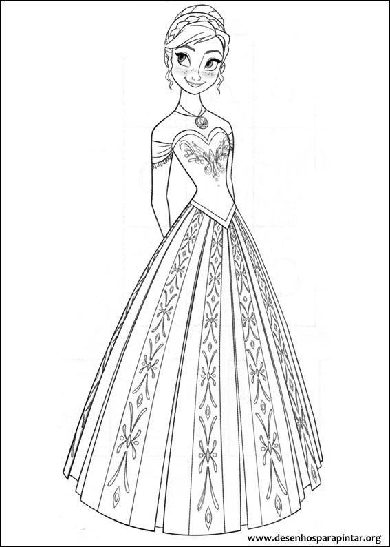 ana coloring pages frozen - photo#16