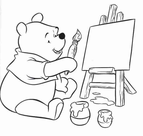 Desenhos do ursinho pooh para colorir e imprimir dicas - Fogli da colorare per la marmotta diurna ...