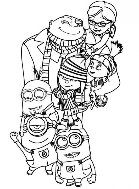 Desenhos Dos Minions Para Imprimir E Colorir