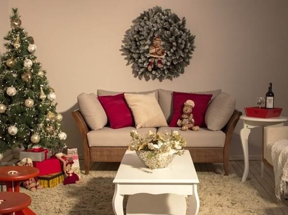 decoracao de natal para interiores de casas: deixe de ver as fotos de sala com decoração de Natal da galeria