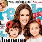 Jacqueline Bracamontes estampa capa de revista do Dia das Mães com as suas filhas