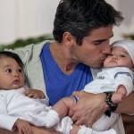 Daniel Arenas não tem filhos, mas é um super pai na ficção
