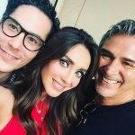 Anahí posa com Christian Chávez e Pedro Damián e fãs piram
