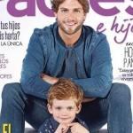 Horacio Pancheri de Um Caminho para o Destino é capa de revista ao lado do filho