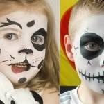 10 ideias de pinturas faciais de Halloween para crianças
