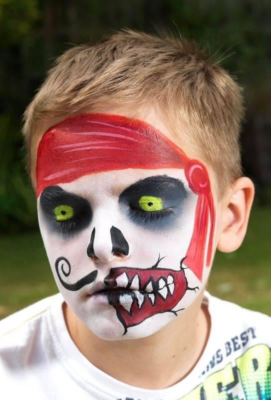 Pinturas faciais de halloween para crian as 6 dicas na - Pinturas para halloween ...