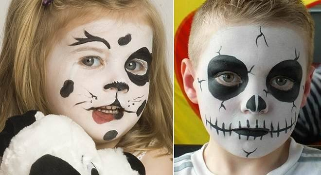 10 ideias de pinturas faciais de halloween para crian as for Pinturas de cara para halloween