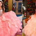Thalia se veste de debutante para promover seu documentário