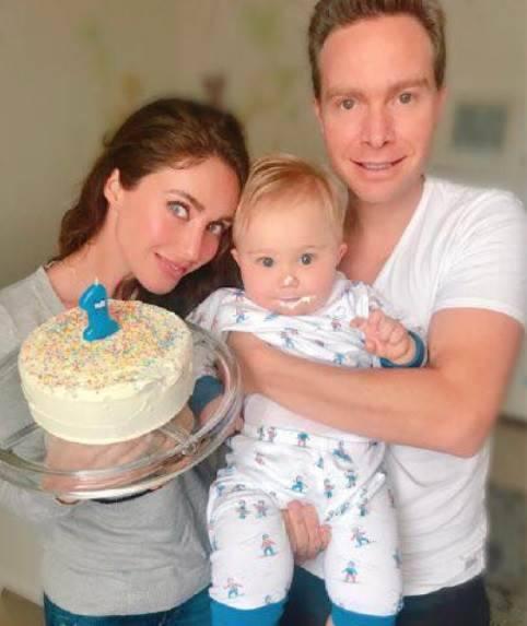 Anahí comemora aniversário do filho
