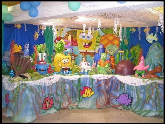 decoracao-aniversario-infantil-tema-Bob-Esponja