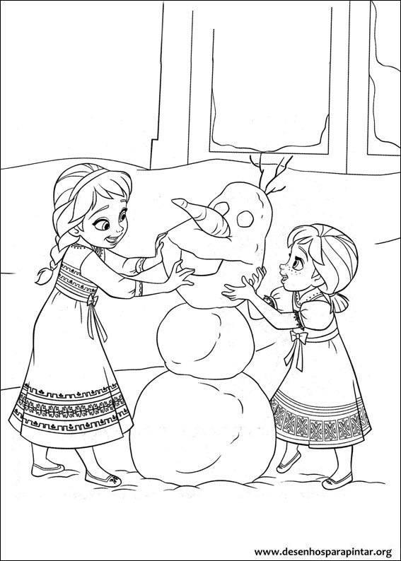 Desenhos Para Colorir Do Filme Frozen