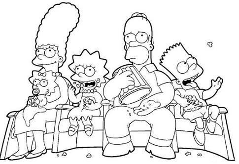 Desenhos Para Imprimir E Colorir Dos Simpsons Dicas Na Internet