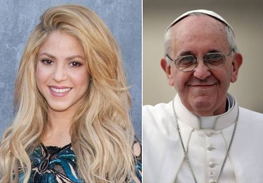 Shakira-e-o-papa-Francisco