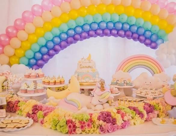 decoração de uma festa infantil