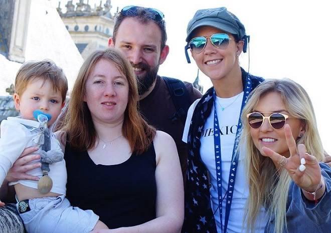 Angelique Boyer e sua familia
