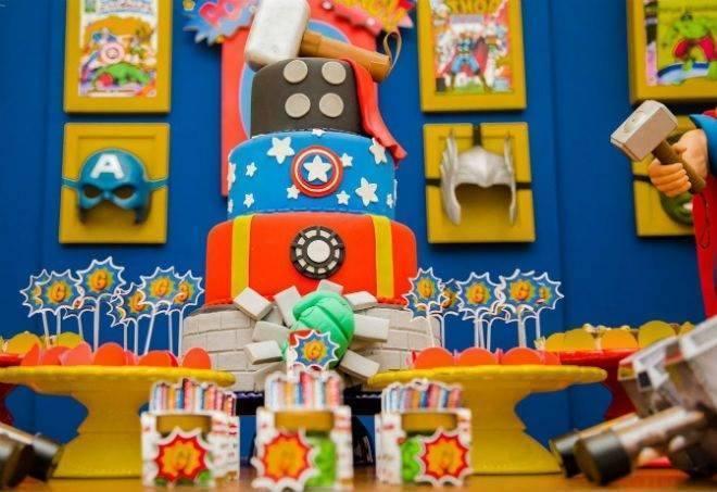 festa de aniversário infantil Vingadores