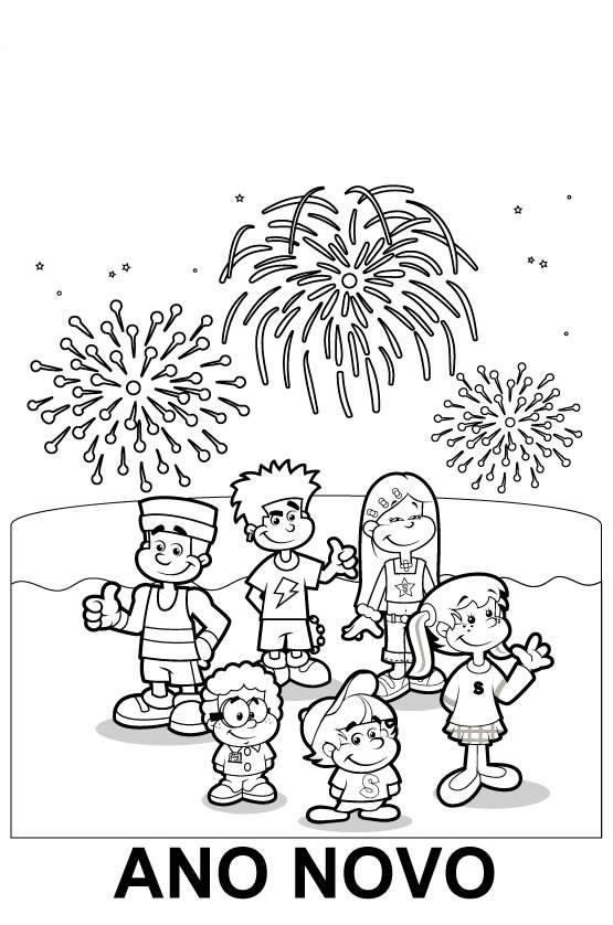 Desenhos De Ano Novo Para Imprimir E Colorir