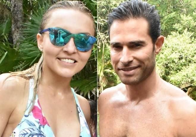Angelique Boyer e Sebastián Rulli curtem o Natal na praia