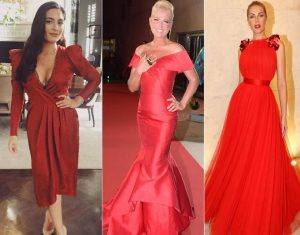 modelos de vestidos vermelhos para o Natal