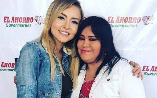 Angelique Boyer participa de evento em supermercado