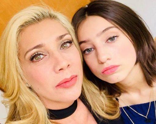 Cynthia Klitbo atriz de teresa e sua filha