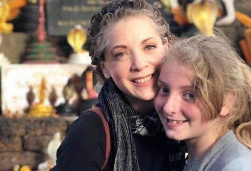 Edith González e sua filha