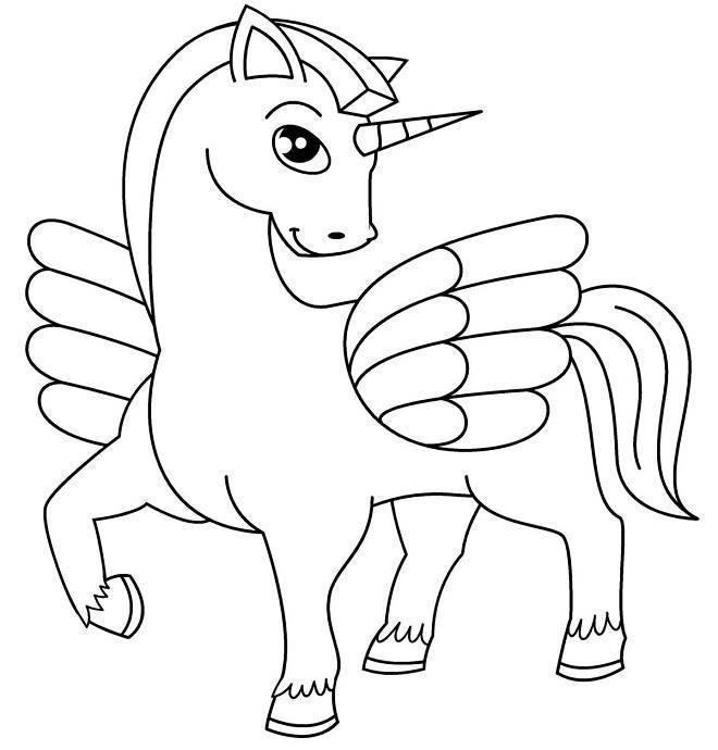 Desenhos De Unicornio Para Imprimir E Colorir