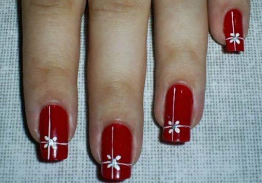 unhas vermelhas de natal