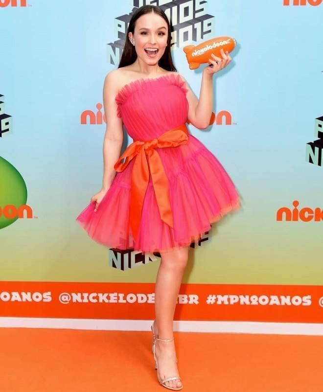 Larissa Manoela vestido pink