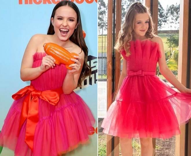 Atrizes de As Aventuras de Poliana usam vestidos quase iguais