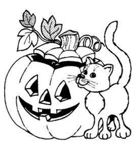 Desenhos para colorir do Dia das Bruxas