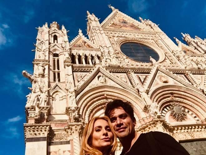 Jorge Salinas e esposa
