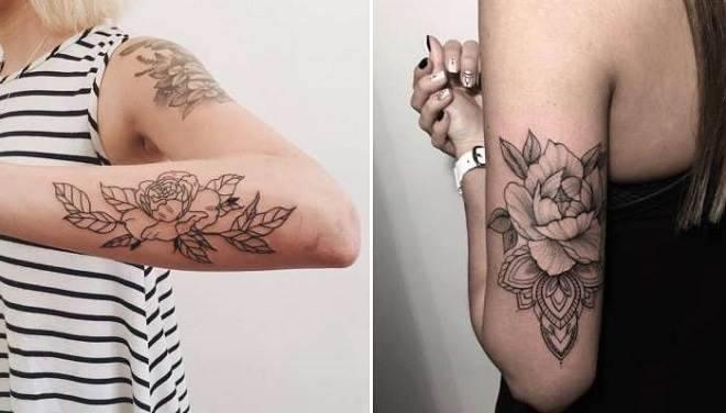 tatuagens de flores no braço