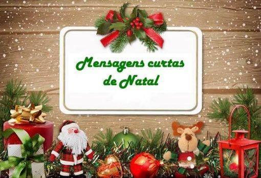 mensagens curtas de Natal