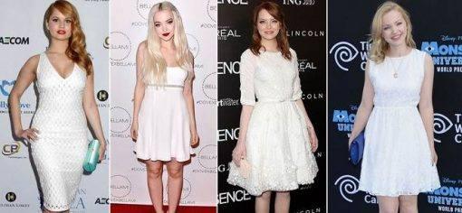 vestidos brancos para o Ano Novo